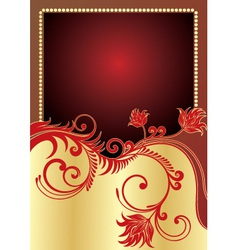golden poster vector image vector image