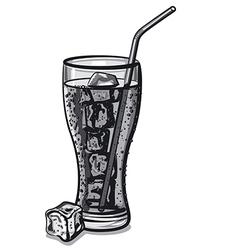 grayscale soda water vector image