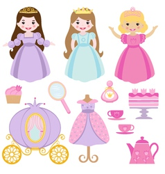 Princess party vector