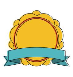 shield badge icon image vector image