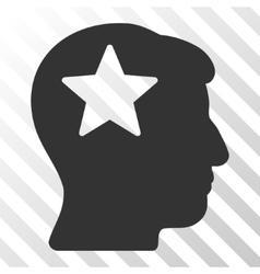 Star Head Icon vector image vector image