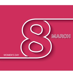 8 March Womens day greeting card design vector image
