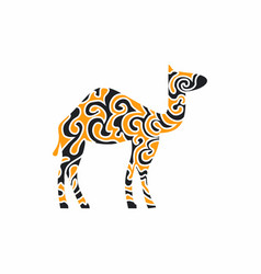 a camel in oriental patterns vector image