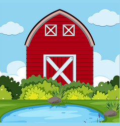 A rural farm landscape vector