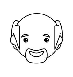 adult male bald head vector image