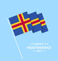Aland independence day typographic design vector