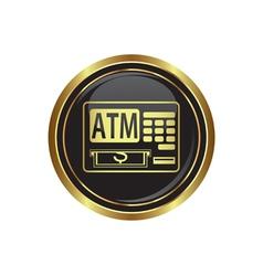 atm button gold copy vector image
