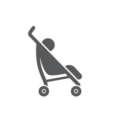 baby stroller icon on white background vector image