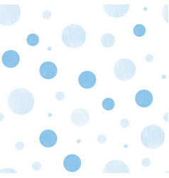 blue fabric textured circles seamless pattern vector image