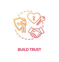 Build trust concept icon vector