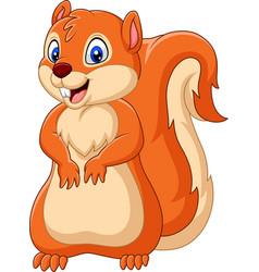 cartoon happy squirrel vector image