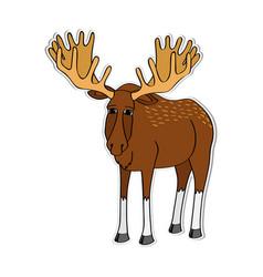 Cartoon moose vector