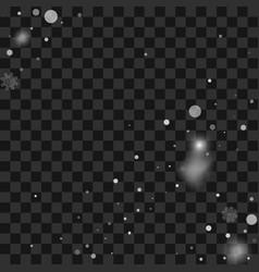 christmas snow snowfall vector image