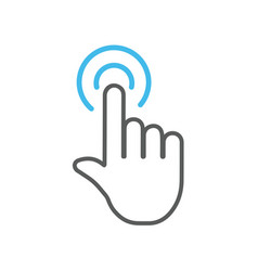 click hand icon vector image