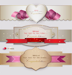 Congratulations Banners and Ribbons vector image