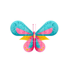 creative of bright butterfly with vector image