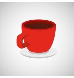 Cup coffee isometrics design vector