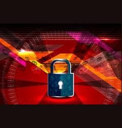 Cyber security padlock vector