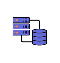 database flat icon sign symbol vector image