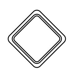 Diamond traffic signal icon vector