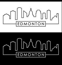 edmonton skyline linear style editable file vector image