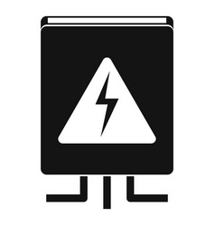 Electrical box icon simple style vector