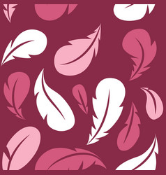 flying feathers seamless pattern design vector image