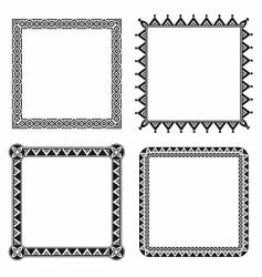 Geometric ornamental frames vector