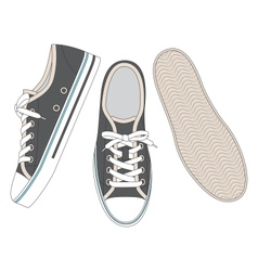 Grey sneakers vector