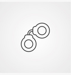 hand cuffs icon sign symbol vector image