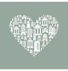 Heart the house2 vector image