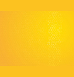 hexagonal outline abstract yellow background vector image