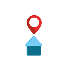house location pointer gps map and navigation vector image
