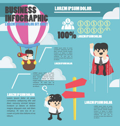 infographic businessman concept to success eps10 vector image