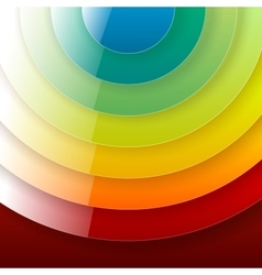 Infographics rainbow shiny round paper shapes vector image