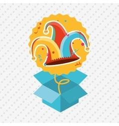 Jester carnival design vector