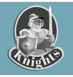 Knight Metal Emblem vector image