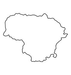 Map of Lithuania vector image
