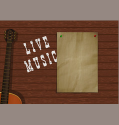 Music background with wooden planks vector