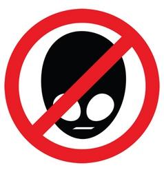 no aliens allowed vector image vector image