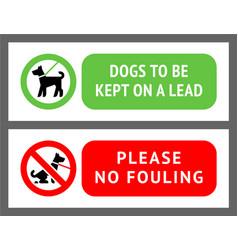 No dog fouling sign modern trendy banner vector