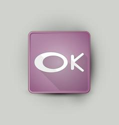 Ok word icon vector