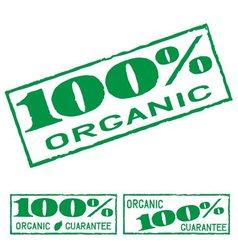 Organic print vector