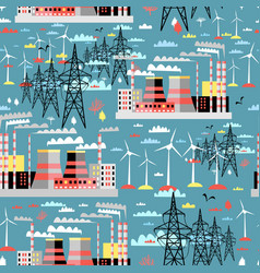 pattern thermal and wind power vector image