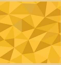 polygonal 3d yellow background seamless pattern vector image