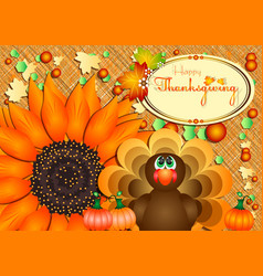 Postcard for thanksgiving in scrapbooking style vector