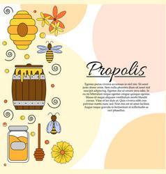 Propolis card concept honey vector