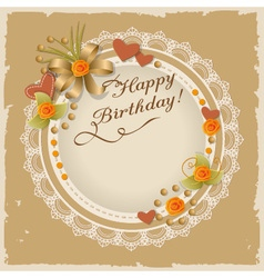 Scrapbooking birthday card vector image