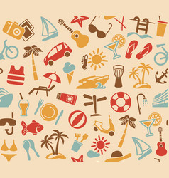 seamless background on a beach theme vector image