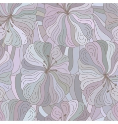 seamless floral pattern Boho style design vector image